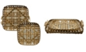 StyleCraft Woven Strippings Trays or Wall Art - Set of 2
