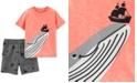 Carter's Toddler Boys 2-Pc. Whale-Print T-Shirt & Shorts Set
