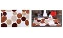 """Saffron Fabs Pebble Stone 34"""" x 21"""" Non-Skid Cotton Bath Rug"""