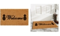 """Home & More Welcome Pineapples 24"""" x 36"""" Coir/Vinyl Doormat"""