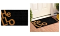 "Home & More Angle Hello 24"" x 36"" Coir/Vinyl Doormat"