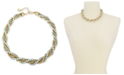 "Charter Club Gold-Tone & Imitation Pearl Twisted Multi-Strand Necklace, 17"" + 2"" extender, Created for Macy's"