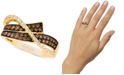 Le Vian Chocolatier® Diamond Overlap Statement Ring(5/8 ct. t.w.) in 14k Gold