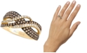Le Vian Chocolatier Gladiator Weave™ Diamond Statement Ring (7/8 ct. t.w.) in 14k Gold