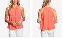 CeCe Pleated High-Neck Top