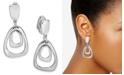 Charter Club Organic Orbital Drop Clip-On Earrings, Created for Macy's