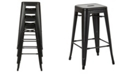 """Office Star Bristow 30"""" Antique Metal Barstool, 4-pack"""