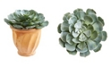 "Nearly Natural 13"" Giant Echeveria Succulent Artificial Plant in Terra Cotta Planter"