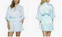 Jezebel Plus Size Gem Satin Wrap Robe, Online Only