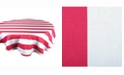 "Design Imports Coral Cabana Stripe Outdoor Table cloth 60"" Round"