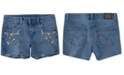 Levi's Toddler Girls Floral Embroidered Denim Shorts