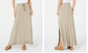 Style & Co Drawstring Side-Slit Maxi Skirt, Created for Macy's