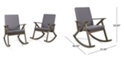 Noble House Gus Outdoor Rocking Chair (Set of 2)