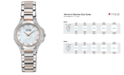 Citizen Women's Eco-Drive Signature Fiore Diamond (1/2 ct. t.w.) Two Tone Stainless Steel Bracelet Watch 30mm EX1166-52D