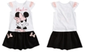 Disney Little Girls 2-Pc. Flawless Minnie Graphic Top & Skirt Set, Created for Macy's