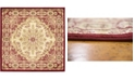 Bridgeport Home Belvoir Blv1 Ivory/Red 4' x 4' Square Area Rug