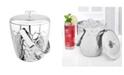 "Old Dutch International ""Avante"" Embossed Stainless Steel Double Walled Ice Bucket, 3.5-Quart"