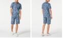 INC International Concepts I.N.C. Men's Regular-Fit Zebra-Print Denim Shirt & Shorts, Created for Macy's