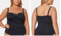 Bleu by Rod Beattie Plus Size Ruched Tankini Top