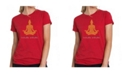 LA Pop Art Women's Premium Word Art T-Shirt - Inhale Exhale