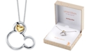 "Disney Mickey Mouse Pendant Necklace in Two-Tone Sterling Silver for Unwritten, 18"" Chain"