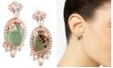 Le Vian Peacock Aquaprase (12 x 8mm) & Vanilla Topaz (1-3/4 ct. t.w.) Drop Earrings in 14k Rose Gold