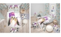 Design Art Designart 'Stylish Puppy With Purple Hat' Modern and Contemporary Duvet Cover Set - Queen