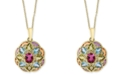 """EFFY Collection EFFY® Multi-Gemstone 18"""" Pendant Necklace (2-3/4 ct. t.w.) in 14k Gold"""