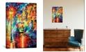 "iCanvas Night Trolley by Leonid Afremov Gallery-Wrapped Canvas Print - 26"" x 18"" x 0.75"""