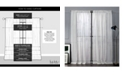 "Exclusive Home Nicole Miller Wellington Embellished Slub Rod Pocket Top 54"" X 96"" Curtain Panel Pair"