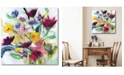 """Courtside Market Colorful Flowers 16"""" x 16"""" Gallery-Wrapped Canvas Wall Art"""