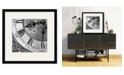 "Courtside Market Clockwork II 16"" x 16"" Framed and Matted Art"