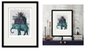 """Courtside Market Elephant and Citadel 16"""" x 20"""" Framed and Matted Art"""