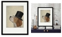 """Courtside Market Beagle, Formal Hound and Hat 16"""" x 20"""" Framed and Matted Art"""
