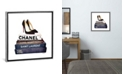 """iCanvas Stack of Fashion Books with Heels I by Amanda Greenwood Gallery-Wrapped Canvas Print - 26"""" x 26"""" x 0.75"""""""