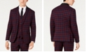 INC International Concepts INC Men's Slim-Fit Tartan Blazer, Created for Macy's