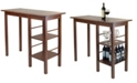 Winsome Egan Breakfast Table with 2 Side Shelves