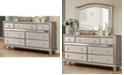 Coaster Home Furnishings Bling Game 7-Drawer Dresser with Stacked Bun Feet