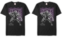 Marvel Men's Black Panther Purple Geometric Shapes Black Panther Short Sleeve T-Shirt