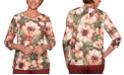 Alfred Dunner Cedar Canyon Embellished Floral-Print Knit Top