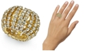 INC International Concepts INC Gold-Tone Crystal Stretch Ring, Created For Macy's