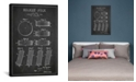 """iCanvas Hockey Puck Charcoal Patent Blueprint by Aged Pixel Wrapped Canvas Print - 26"""" x 18"""""""