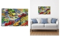 """iCanvas Cartoon Racing Cars Children Art by Unknown Artist Wrapped Canvas Print - 18"""" x 26"""""""