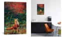 "iCanvas Fox Fire by Iris Scott Wrapped Canvas Print - 60"" x 40"""