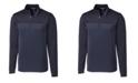 Cutter & Buck Men's Big & Tall Traverse Stripe Half Zip Sweatshirt