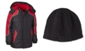 Ixtreme Little Boys Hooded Colorblocked Puffer Jacket With Hat
