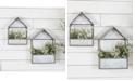 VIP Home & Garden 2-Piece Metal Wall Planters