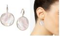 Macy's Mother-of-Pearl Bezel-Set Drop Earrings in 18k Gold-Plated Sterling Silver