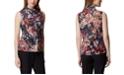 Tahari ASL Petite Floral-Print Ruffled Top