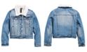 Jou Jou Big Girls Fleece-Lined Denim Jacket